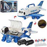 Игровой набор детский гараж Полиция самолет с машинками 660-A238