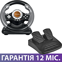 Игровой Руль и Педали для ПК Defender Challenge mini LE, приставка-руль с педалями для компьютера и ноутбука