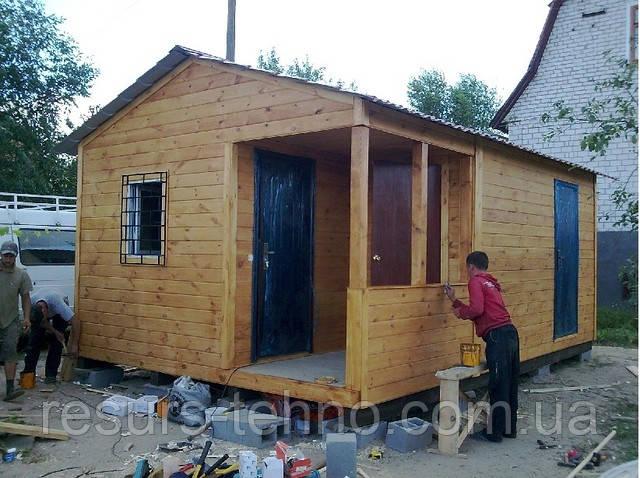 Дачный домик 6м х 4м Фальшбрус