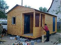Дачный домик 6м х 4м Фальшбрус, фото 1