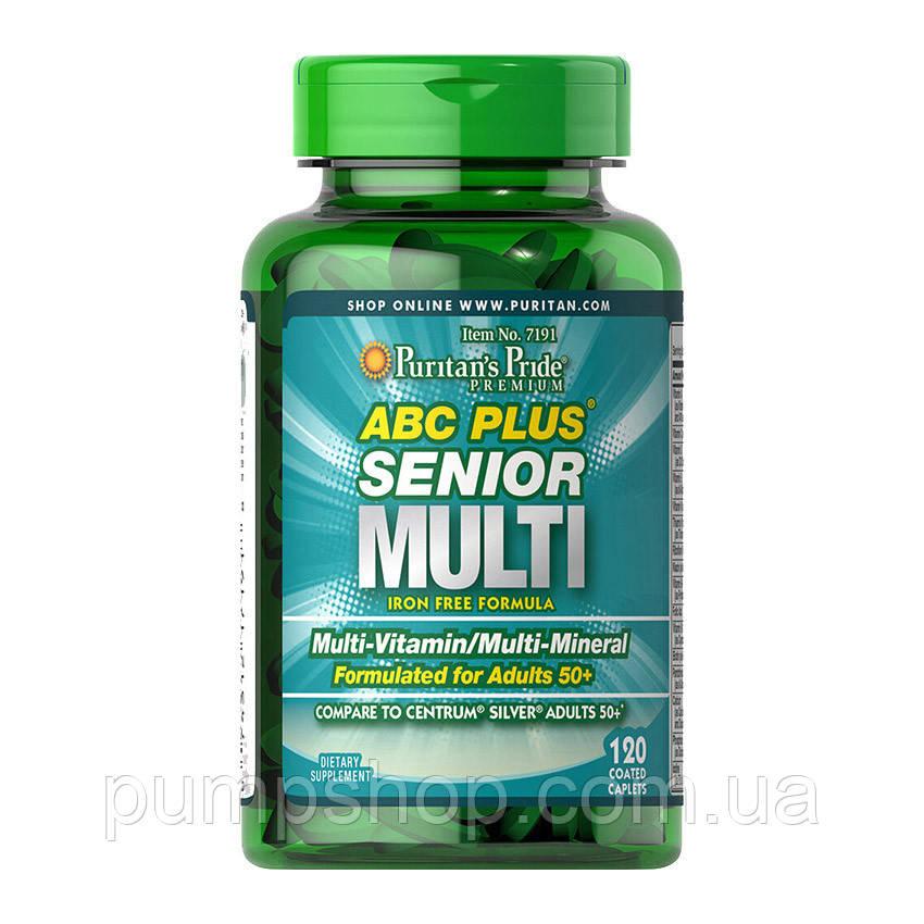 Витамины и минералы Puritan's Pride ABC Plus Senior Multi 120 капс.