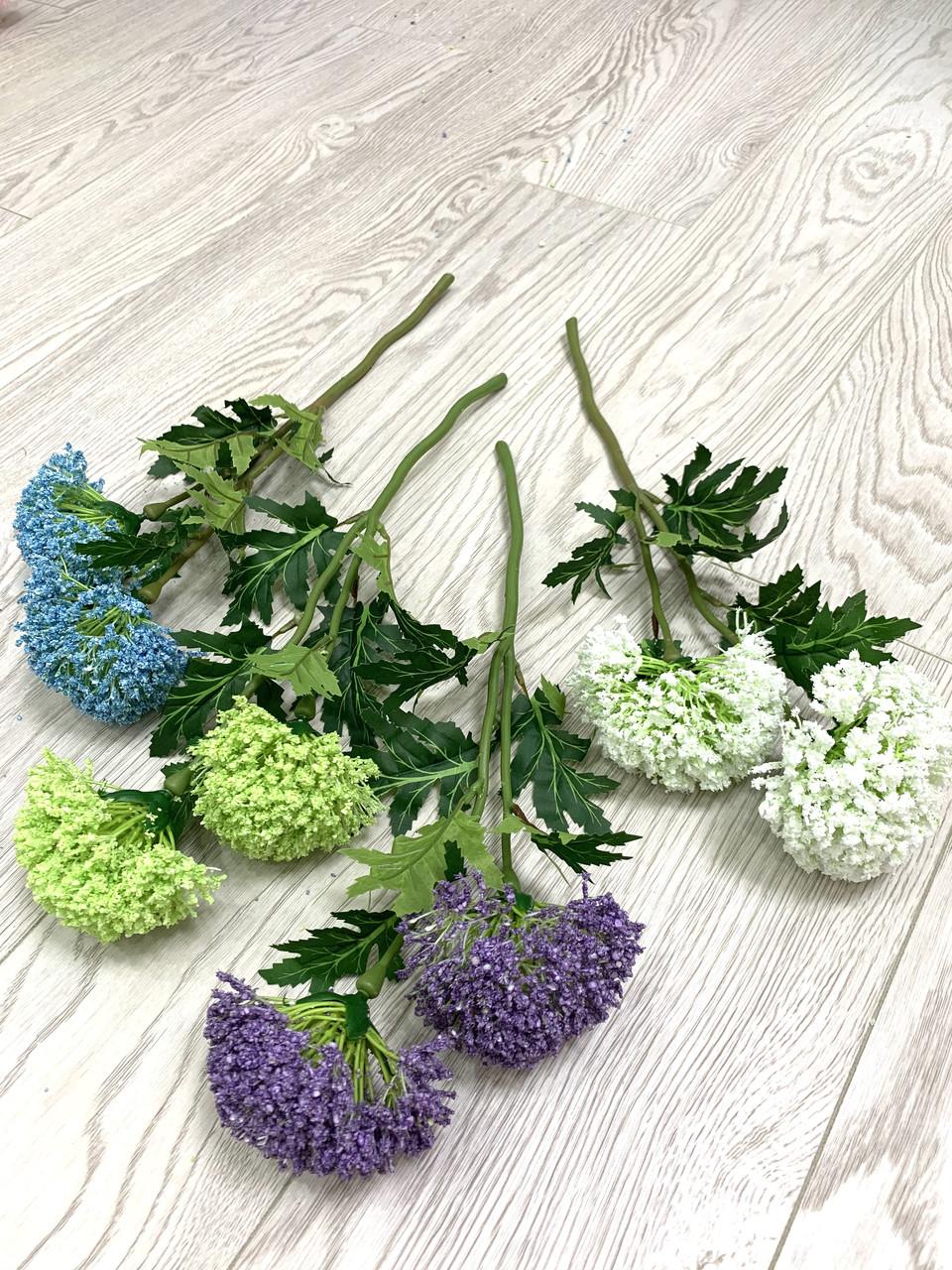 Декоративная ветка - цветок чеснока ( 40 см )