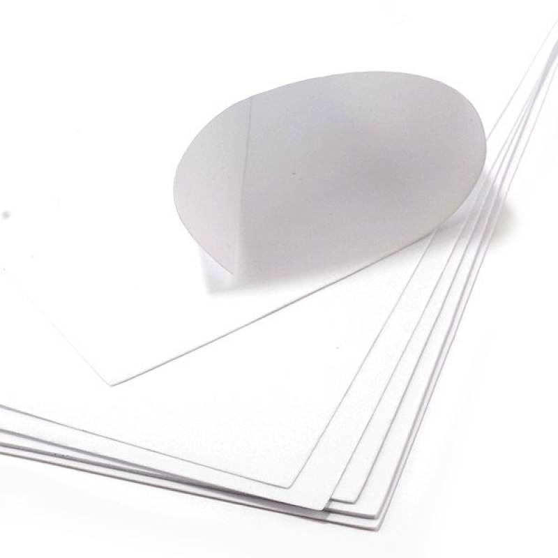Фоамиран экстратонкий БЕЛЫЙ, 50x50 см, 0.5 мм, Китай