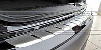 Накладка на бампер с загибом для Lexus IS 2009+ (DOUBLE)