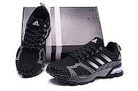 Мужские кроссовки Adidas Marathon Flyknit черные