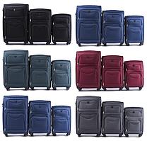 Комплект чемоданов Wings 6802 на 4 колесах 3 в 1 (L+M+S)
