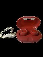 Беспроводные Bluetooth наушники с зарядным кейсом Gorsun V7 Красные