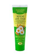 """Крем для лица с ромашкой и маслом зародышей пшеницы для сухой кожи """"Народная аптека"""" Iris Ir-0245"""