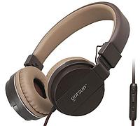 Проводные наушники с микрофоном Gorsun GS-779 Коричневые