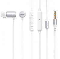 Вакуумные наушники с микрофоном Celebrat C10 Белые