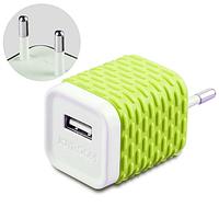 Сетевое зарядное устройство Joyroom WY-002 Зеленое