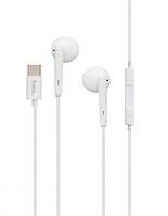 Наушники с микрофоном Hoco L10 Type-C Белые