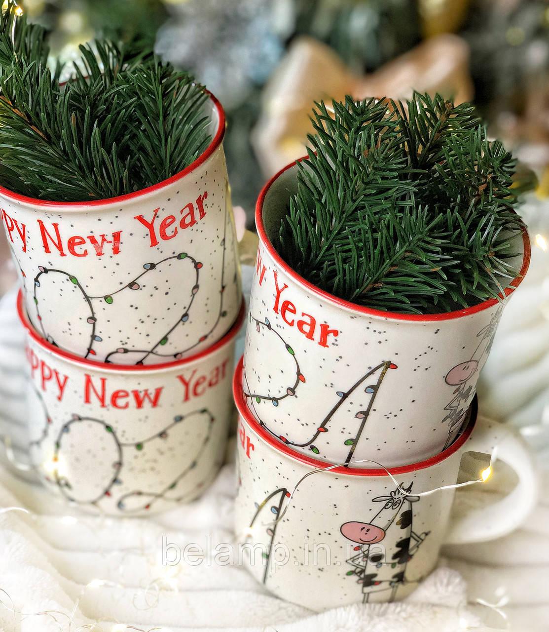 Новорічна Чашка з написом 2021 і сонечком