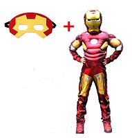 Костюм Железный человек ABC с 2 масками (S 110-120 см)