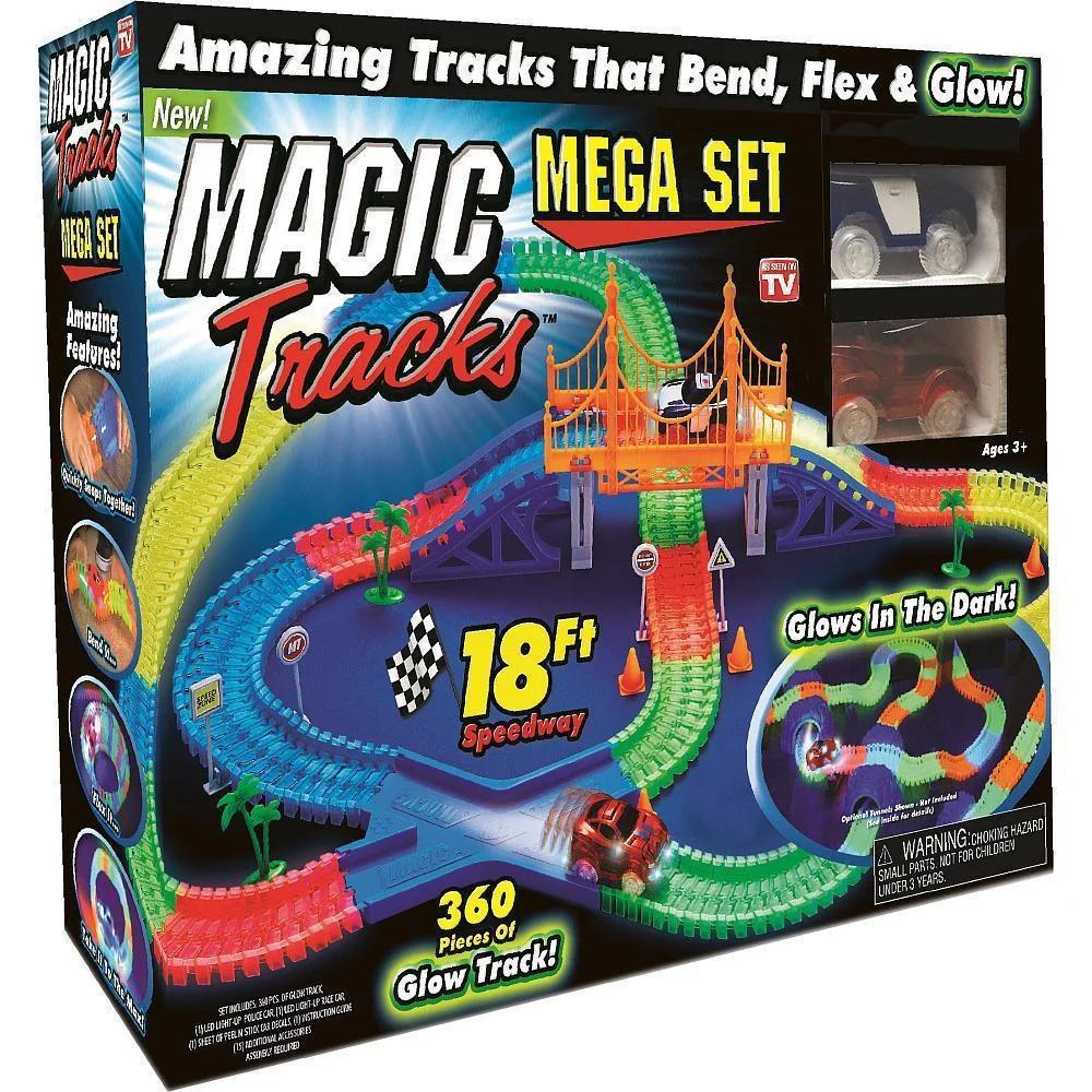 Светящийся гоночный трек .Светящаяся дорога Magic Tracks (Меджик трек) на 360 деталей + 2машинки