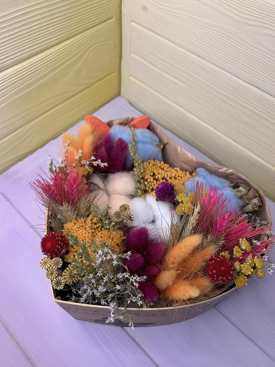 """Букет из сухоцветов """"Сердце"""""""