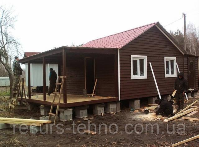 Будиночок дачний 36м/кв з набірної дошки
