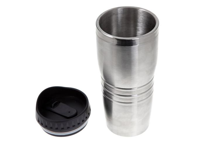 Термокружка металлическая 400 мл, серебро, без ручки