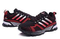 Мужские кроссовки Adidas Marathon Flyknit black-red