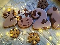 """Набор новогодние медовые имбирные пряники ручной работы """"Символ нового года 2021"""", фото 1"""