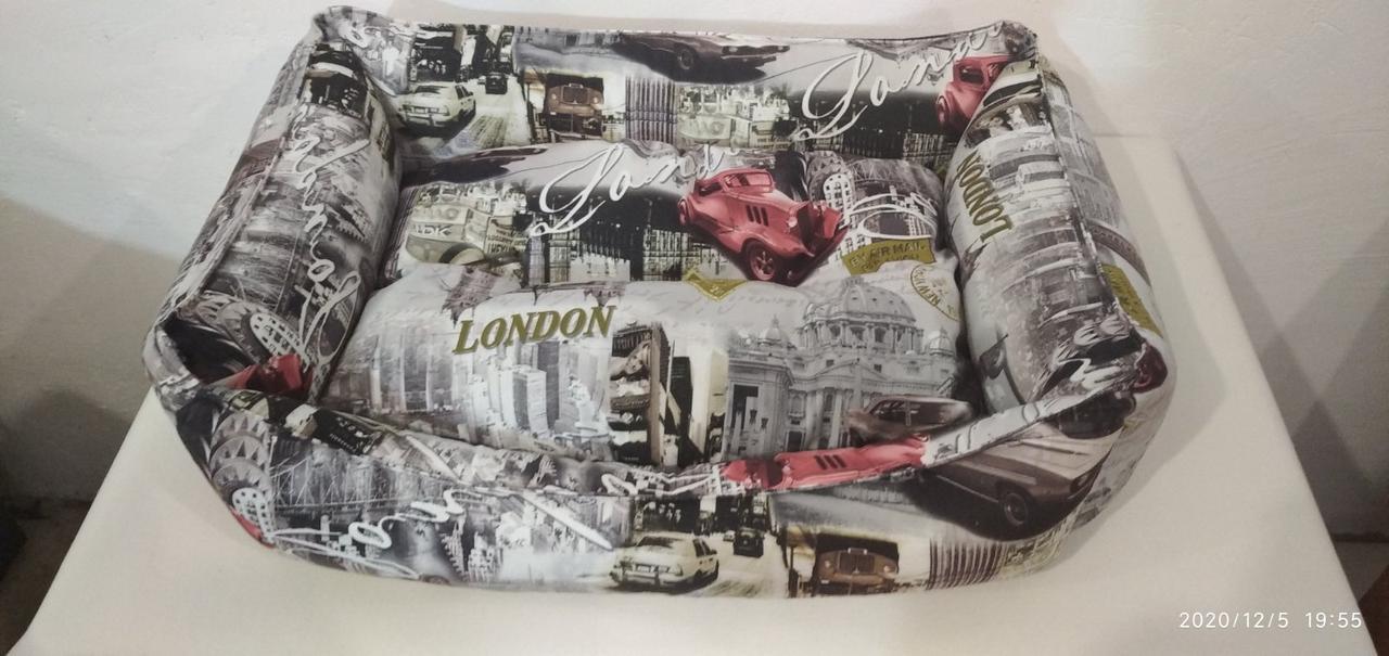 Лежак Premium в ткани Антикоготь 70х50см, Лежаки, лежак, лежак для кошки, лежак для собак