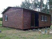 Дачный домик из блокхауса 9м х 6м, фото 1