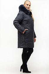 Женские зимние куртки с натуральным мехом большого размера 54-70