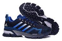 Мужские кроссовки Adidas Marathon Flyknit blue-black, фото 1