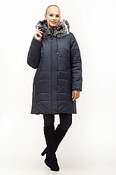 Зимние куртки женские с натуральным мехом большого размера 54-70