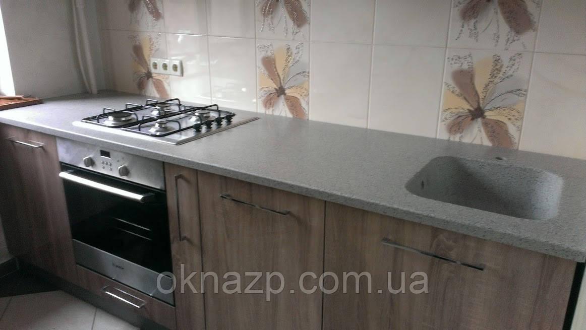 Кухонная столешница с мойкой (цена за литую мойку 2400грн./шт.)