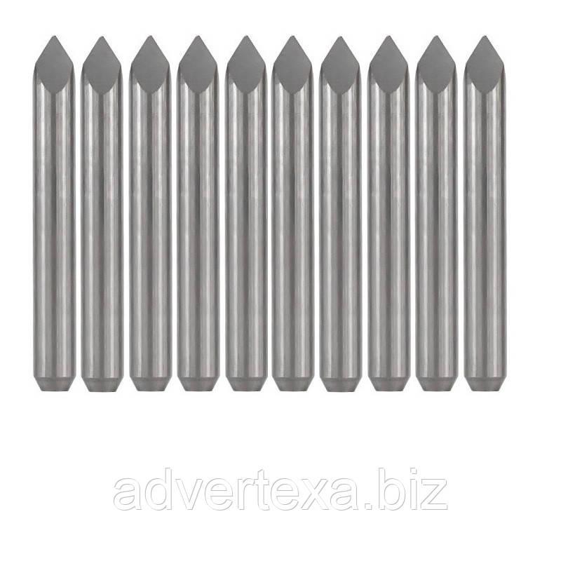Набір фрез 0.1 мм 30 градусів, піраміда, 3.175 мм з вольфрамової сталі з загальною довжиною 31.5 мм для гравіювання