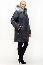 Зимняя женская куртка большого размера 54-70