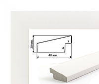 Багетная рамка Brushme для картин по номерам 40х50 см (белая 4 см)