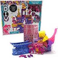 Игровой набор для девочек «Замок Пони» (2 игрушки розовые) SM 2019