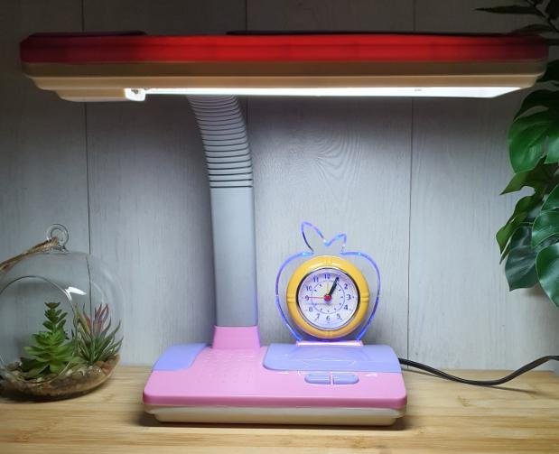 Настольная лампа Tinko 30102 Pink , с часами школьная
