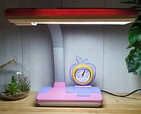 Настольная лампа Tinko 30102 Pink , с часами школьная, фото 1
