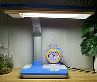 Настольная лампа Tinko 30102 Blue, с часами школьная, фото 1