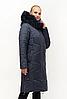 Женская зимняя куртка удлиненная размеры 48-62, фото 6