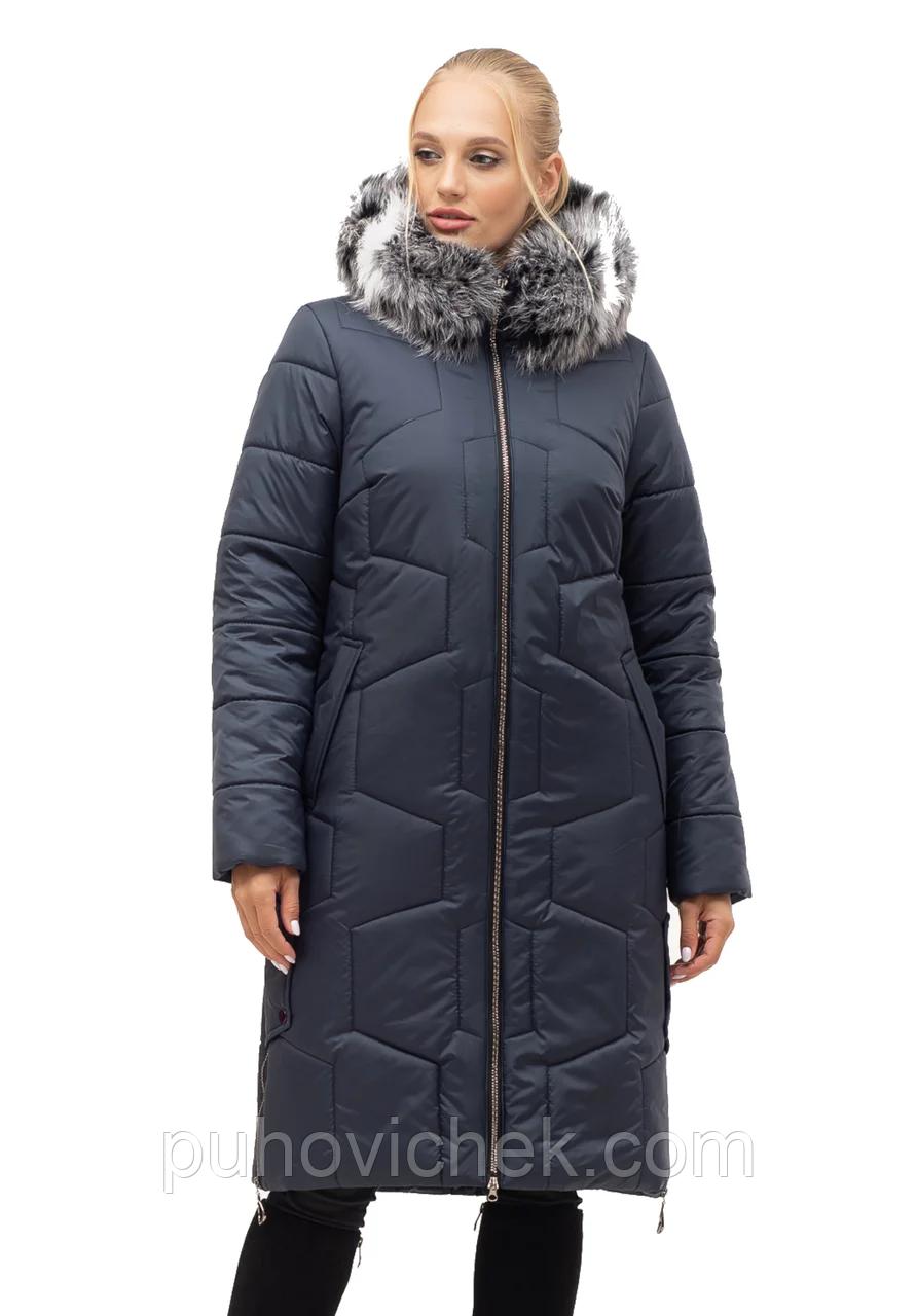 Женская зимняя куртка удлиненная размеры 48-62