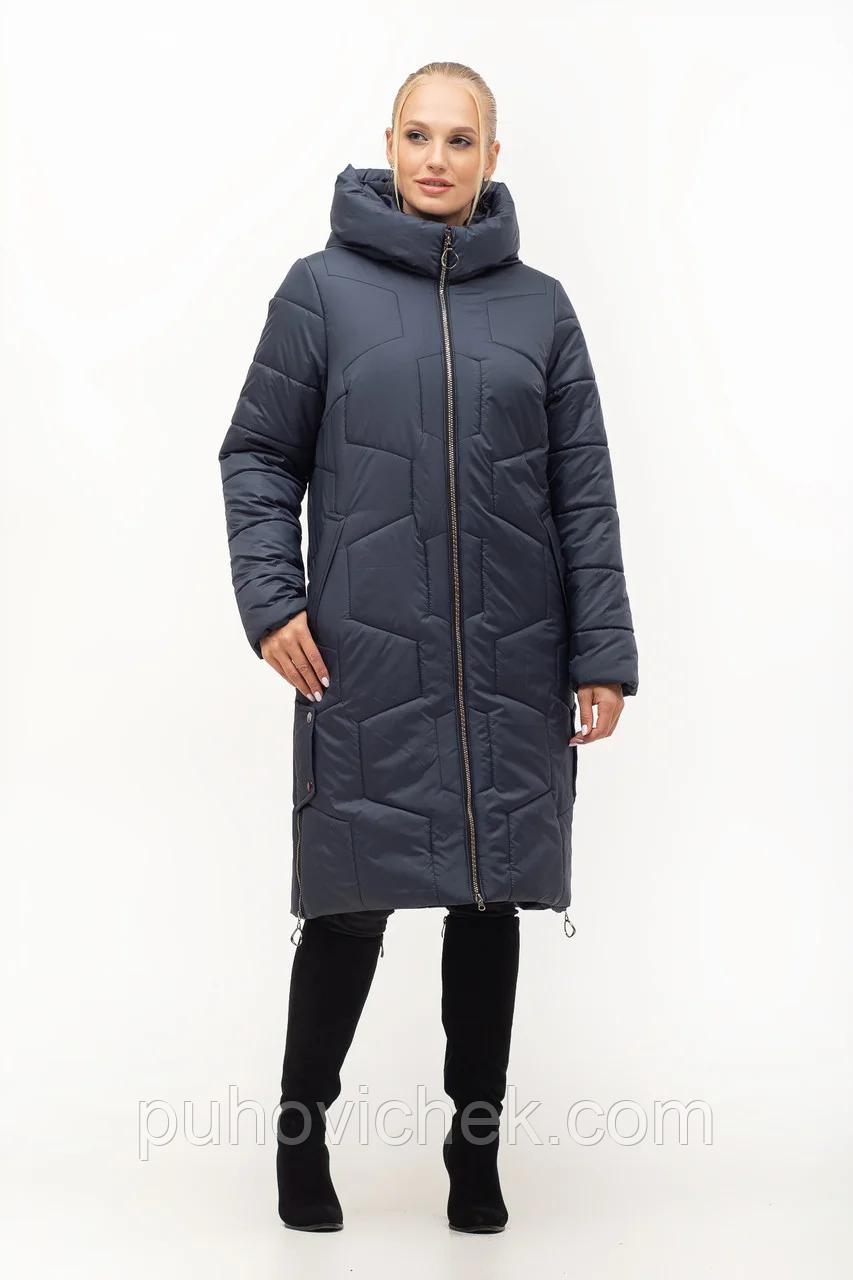 Удлиненная женская куртка зимняя размеры 48-62