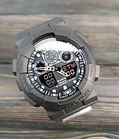 Годинники наручні чорні Casio G-Shock GA-100 All Black / касіо джишок чорні