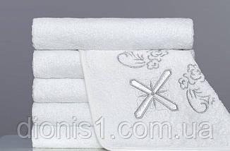 Полотенце для крещения  квадратное серебро 100х100 махра Турция