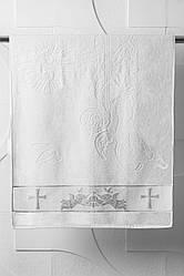 Полотенце для крещения серебро 140х70 махра Турция