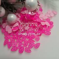 Стрази фігурні 5.5*8 Neon pink 20шт №102