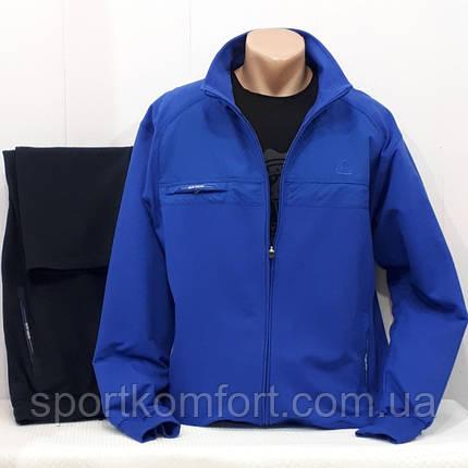Оригинальный мужской спортивный трикотажный костюм Soccer Турция синий размеры 3хл 4хл 5хл 6хл, фото 2