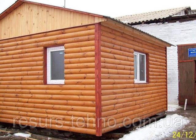 Дачний будиночок економ з блокхаус 4,5 м х 4,0 м