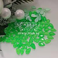Стрази фігурні 5.5*8 Neon green 20шт №102