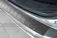 Накладка на бампер с загибом для Lexus RX 2009+ (MONO)