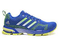 Мужские кроссовки Adidas Marathon Flyknit blue-green, фото 1