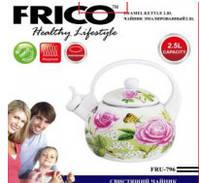 Чайник эмалированный 2,5 литра со свистком